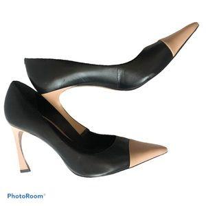 Beautiful two tone leather heels